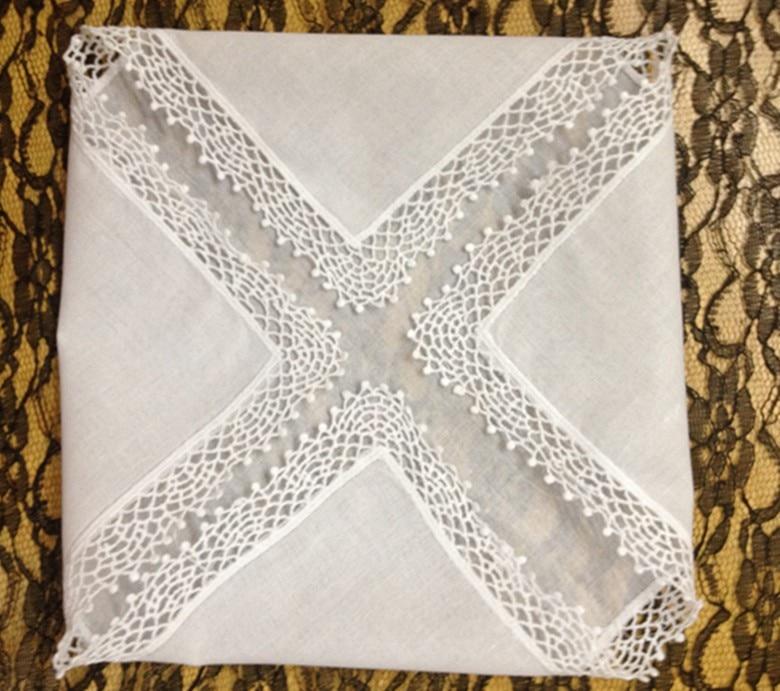 Fashion White100%Cotton Women Handkerchiefs 12PCS/Lot 12x12