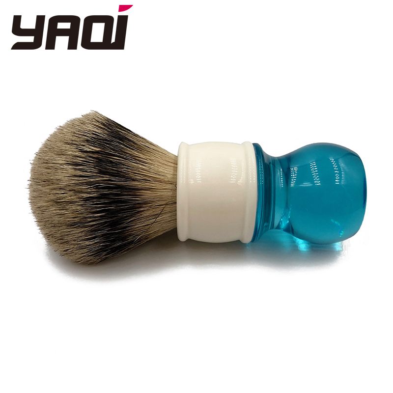 Yaqi 24mm Aqua Highmountain Silvertip Badger Hair Shaving - Barbering og hårfjerning - Foto 5