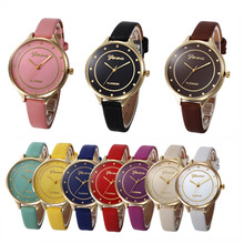 Top brand leather bracelet lady girl wristwatch  Clock Women Faux Leather Watch Reloj mujer Feminino Female Dress Watches Montre