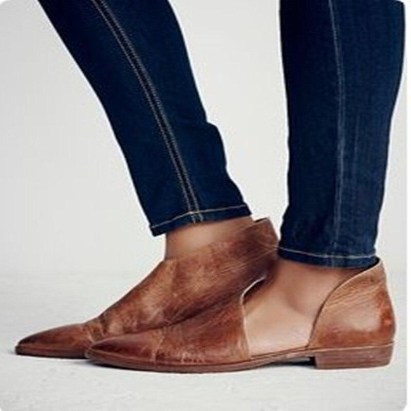 She Era Leather Oxford Shoes Wo