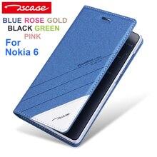 Tscase Мода Высокого Качества Новый Оригинальный Для Nokia 6 Случае роскошный Кожаный Флип Для Nokia6 Крышка Для Nokia 6 Телефон Shell