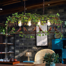 American country chandelier industry wind retro birdie dining room bar coffee shop LED lamps
