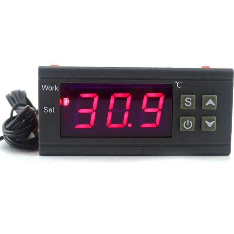 Digitale Temperatur Controller 90-250 V 10A 220 V Thermostat Regler mit Sensor Heizung Kühlung Steuerung C/F modell Optional