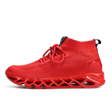 Summer Running shoes for men high top sports sneaker Breathable Air Mesh Red Athletic shoes outdoor walking jogging shoes male hot sale running shoes for men professional conshioning mens sports shoes breathable mesh athletic sneaker shoes size46 xrmb001
