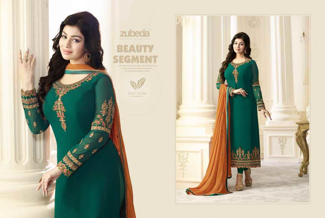 81f74765fc ... ZUBEDA Indian Pakistan Dress Women Churidar Salwar Kameez Designer  Flower Embroidery Stitched Suit Bollywood Ethnic Party