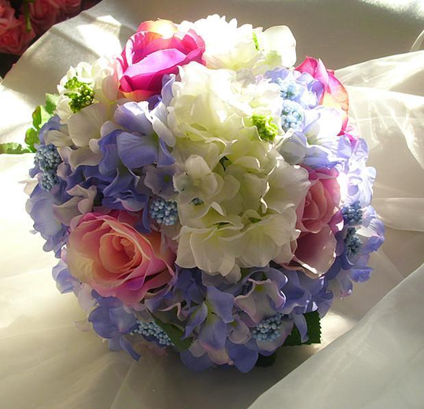 2017 Cheap Wedding/Bridesmaid Bridal Bouquet New Colorful Rose Handmade Artificial Flower Bouquets de mariage ramo de la boda