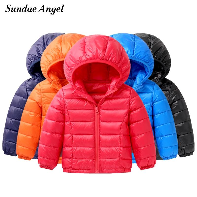17ecc9174669f Sundae Angel Light Children s Winter Jackets Kids Duck Down Coat Baby Jacket  For Girls Parka Outerwear Hoodies Boy Coat 18M-9 Y