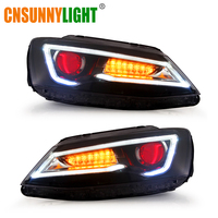 CNSUNNYLIGHT For VW/Volkswagen Jetta 2011/2012/2013/2014 Car Headlight Assembly w/ LED DRL Turn Signal Demon Eyes Projector Lens