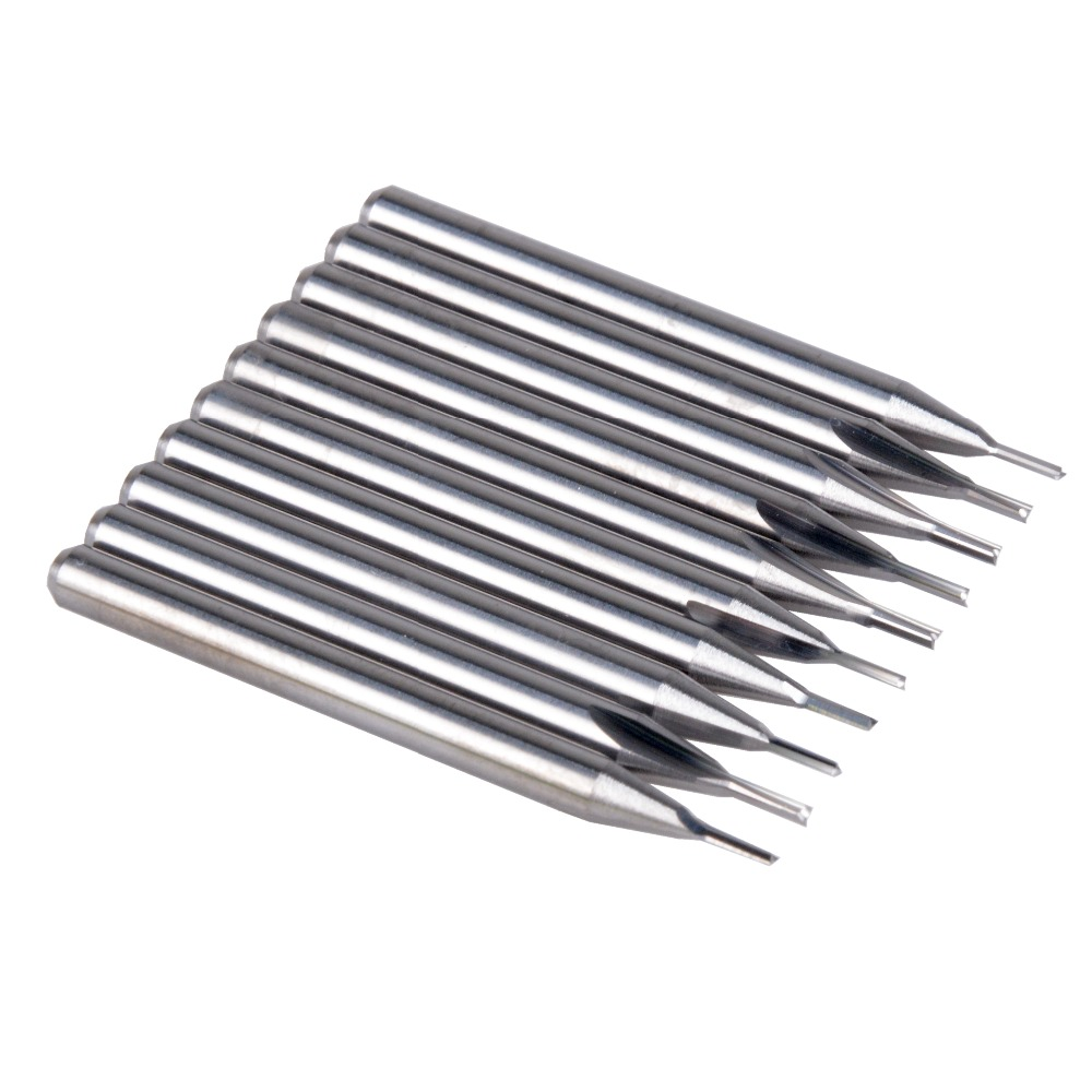 10pcs 3.175mm CED 1.0mm CEL 4mm Straight Slot Bit Wood Cutter CNC Solid Carbide Two Double Flute Bits CNC Router Bits
