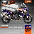 Custom Graphics Backgrounds  Decals 3M Stickers Kits Classic For KTM ADV 1190 Adventure 1190 Customized Graphics Free Shipping