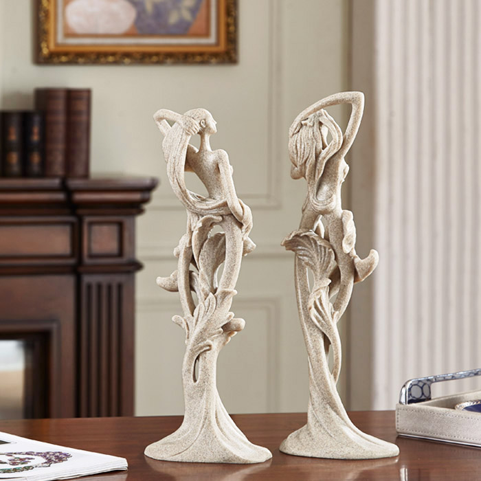 Female Ornaments Resin Crafts European Women's Sculpture 1