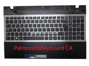 Image 3 - Laptop Palmrest & Toetsenbord Voor Samsung 300V5A 305V5A Engels Ons Rusland Ru Arabië Ar Nordic Ne Canada Ca Touchpad Case cover Nieuwe