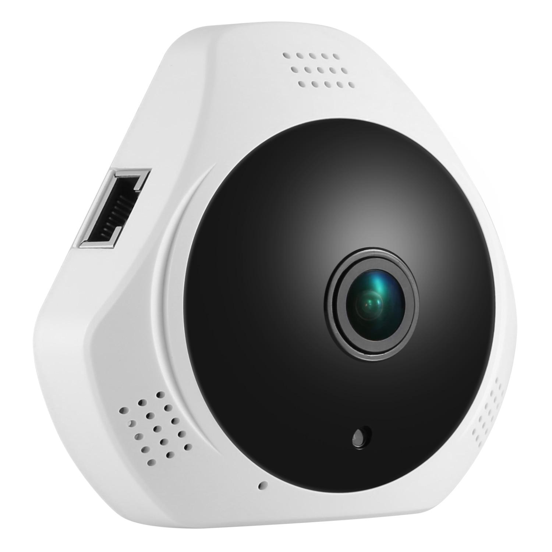 SANNCE 360 Degree Wireless Panoramic Camera MINI 960P Network Wi-fi Fisheye Security IP Camera WIFI 1.3MP Video Built-in MIC erasmart hd 960p p2p network wireless 360 panoramic fisheye digital zoom camera white