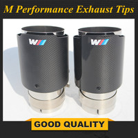 M PERFORMANCE CARBON EXHAUST TIP In 63mm (2.5) Out 89mm (3.5) car styling Akrapovic exhaust car muffler tip MUFFLER NOZZLE