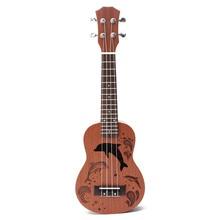 21″ Mini Sapele Acoustic Electric Bass Guitar Rosewood Fingerboard Ukulele Ukelele Mahogany Neck Guitarra For Musical Instrument