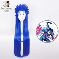 FGO Fate Extra Lancer Cu Chulainn Cosplay Wig Caster Straight Long Blue Synthetic Hair Halloween Costume Party Play Wigs For Men