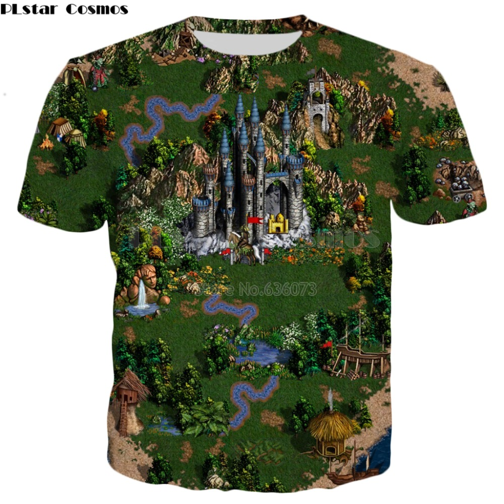 PLstar Cosmos 2019 New style summer   T     shirt   Fashion Men/Women tshirt Classic game Heroes of Might & Magic Print Harajuku   t     shirt