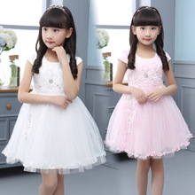 Children's clothing 2018 New Summer Girls Summer Dress Foreign Korean princess dress Performance dress yarn