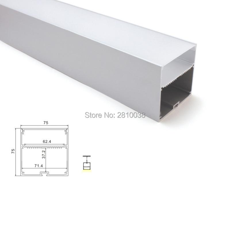 canal de perfil de alumínio e 75x75