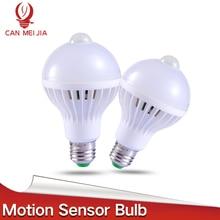 1pcs Sound+Light Control Lamp With The Motion Sensor Led E27 Bulb SMD 5730 220V Ampoule PIR Light 3W 5W 10W