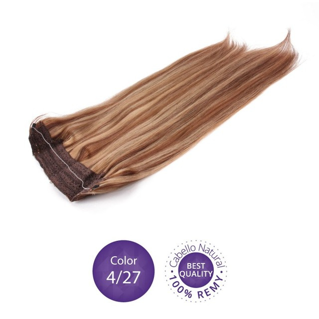 12inch 28inch Color 427 Brown Highlight Remy Flip Halo Hair