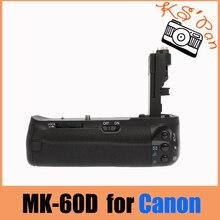 Meike mk-60d, apretón de la batería para canon eos 60d bg-e9 bg-60d