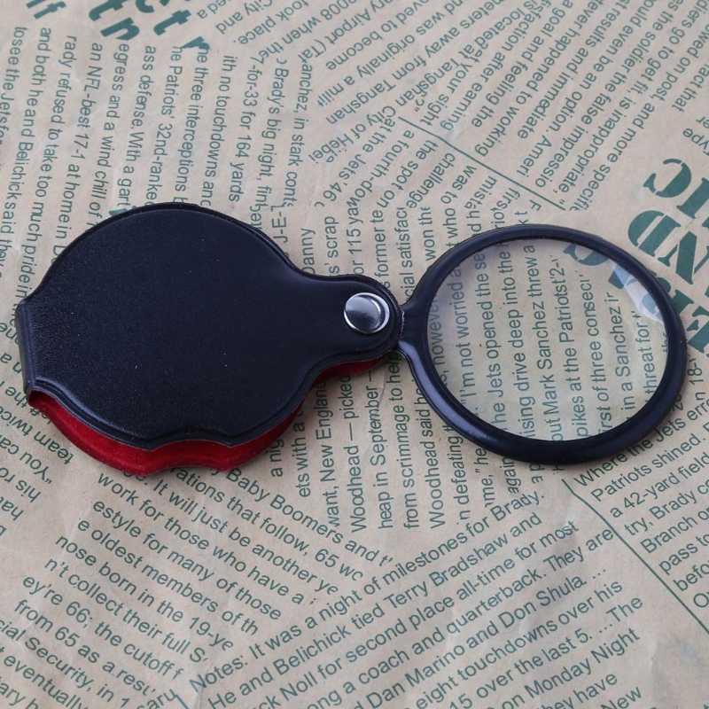 8 × 50 ミリメートルミニポケット折りたたみジュエリー拡大鏡ガラスルーペレンズ