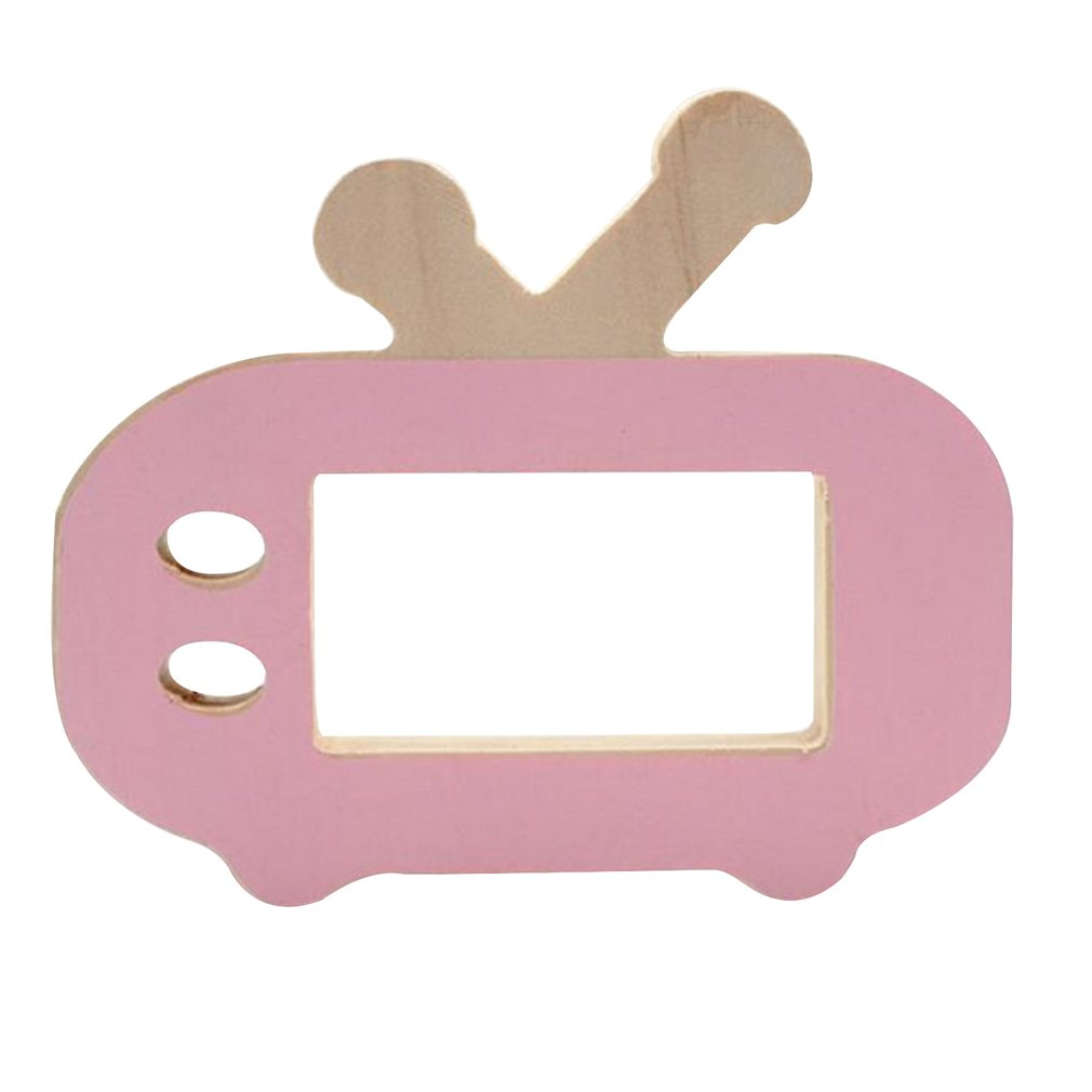 Kids Mini Wooden Photo Prop Nordic Style Toys Children Room Decoration Ornament Camera Toys Accs Non-Toxic TV Shape Birthday Toy