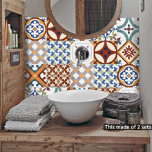 Funlife 15*15cm/20*20cmTurkish Ceramic Tiles DIY PVC Waterproof Self adhesive Furniture Bathroom Wall deacals Tile StickerTS057