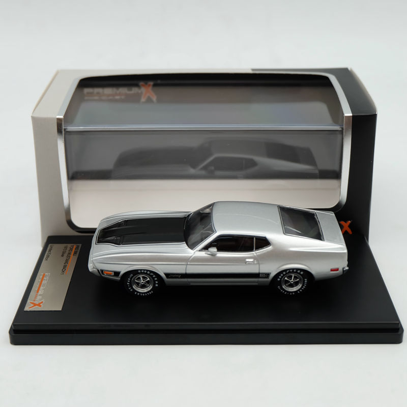 IXO Premium X 1:43 Ford Mustang Mach 1 1973 Silver PRD398J Limited Edition Collection Resin Auto Models ixo premium x 1 43 stutz blackhawk coupe 1971 red prd002 limited edition collection resin auto models
