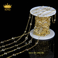 6mm 5Meter Wholesale Clear Crystal Glass Chain Faceted Beads Round Coin Chain Necklace Bead Work Jewelry for Women LS067
