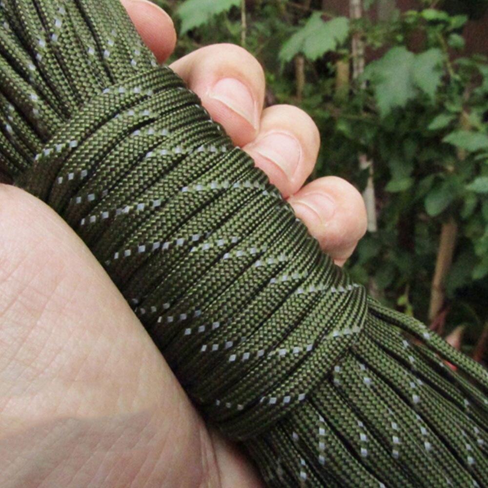 Диаметр 4 мм парашют веревка палатка ремесла отражающая палатка веревка воды исследовать парашют 31 м износостойкость Кемпинг шнур - Цвет: Military green