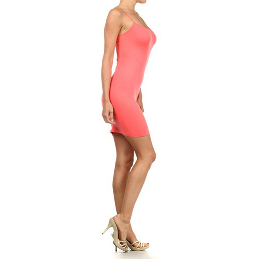 Новинка, Женская эластичная кофточка на бретельках, Длинный топ на бретелях, Мини Короткое платье, летнее повседневное сексуальное платье без рукавов для женщин