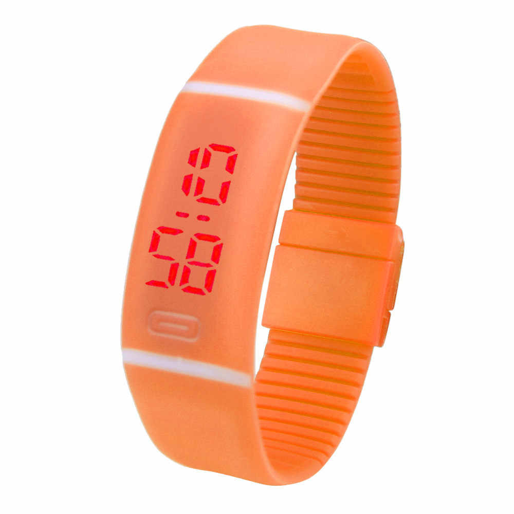 Cool colorido rojo LED correr al aire libre deportes reloj fecha goma pulsera Digital relojes de pulsera para hombres reloj Masculino