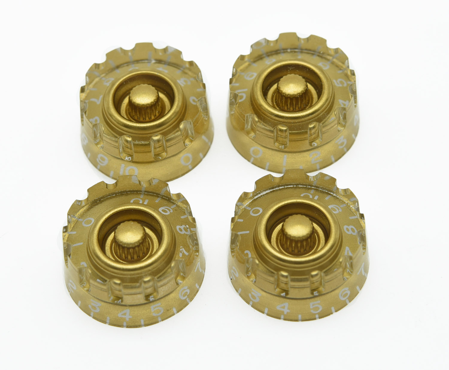4x Gold LP Guitar Knurled Control Knobs Speed Metric Knob Fits LP phil collins singles 4 lp