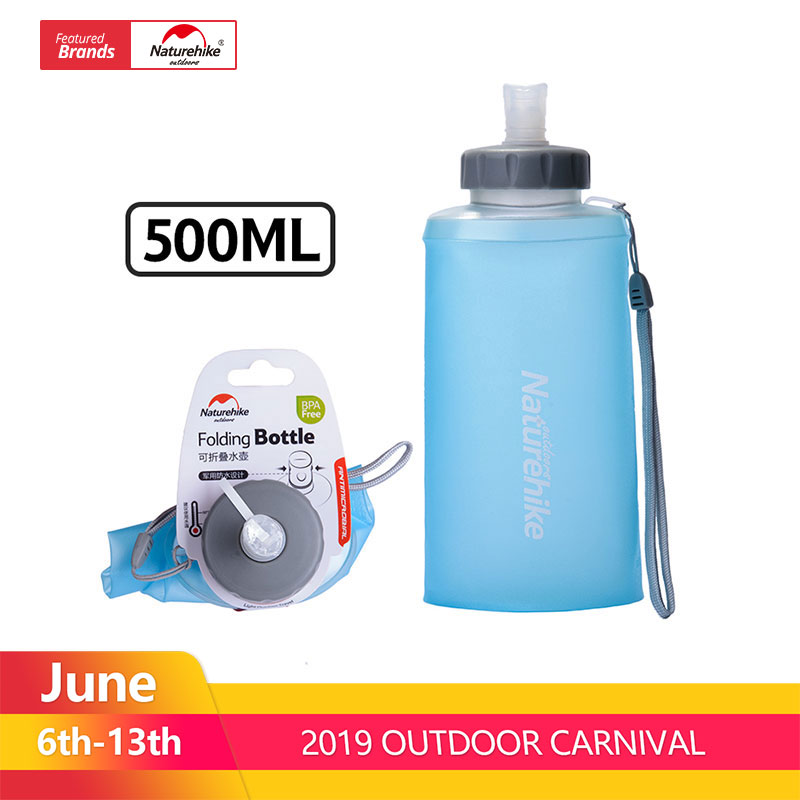 Naturehike 500ML Mini Sports Bottle Water Bottles Outdoor Cup Portable Silicone Folding Drinkware With Straw NH61A065-BNaturehike 500ML Mini Sports Bottle Water Bottles Outdoor Cup Portable Silicone Folding Drinkware With Straw NH61A065-B
