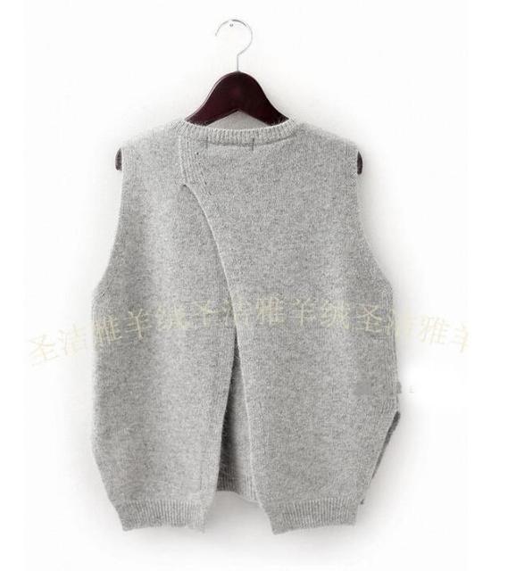 Abaya Mujeres suéteres y suéteres de punto de Lana Suéter chaleco de lana chaleco