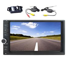 """Wireless Backup Camera+Android 6.0 Car DVD Player Quad Core 6.2"""" Car Stereo GPS Navigation In Dash Bluetooth Radio Audio WiFi"""
