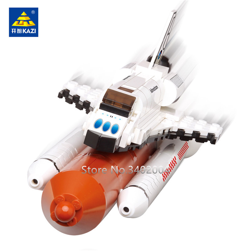 194Pcs Spaceflight Launch Figures Space Shuttle Expedition Model Building Blocks Sets DIY Bricks LegoINGLs Toys for Children in Blocks from Toys Hobbies