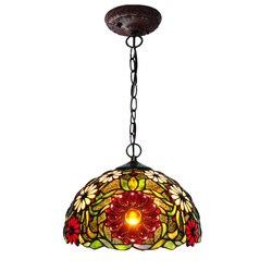 Retro luksusowe witraże Rose Flower wiszące lampy jadalnia do zawieszenia w kuchni światła restauracja Cafe Bar oświetlenie domowe w Wiszące lampki od Lampy i oświetlenie na