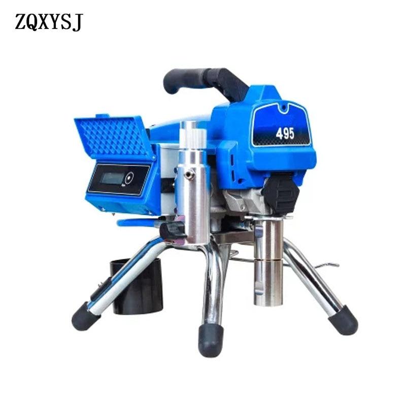 495 high pressure airless latex paint spraying machine spray paint machine home improvement wall paint spray paint machine tools