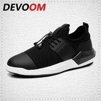 DEVOOM Ludzie Przypadkowi Buty Mesh Adidasy Buty Moda Lato lekkie Oddychające buty do chodzenia Trzy style Black Mens skpacobkn