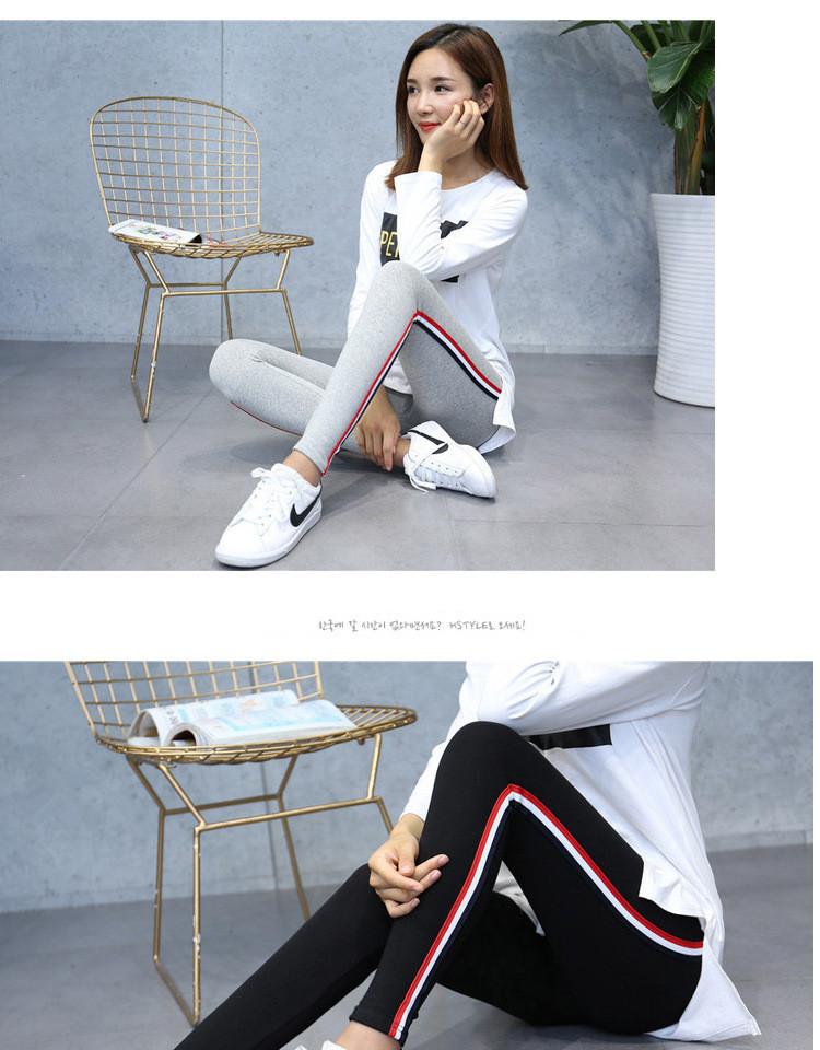 High Quality Cotton Leggings Side stripes Women Casual Legging Pant Plus Size 5XL High Waist Fitness Leggings Plump Female 21