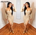 Ailunsnika 2017 new arrival hot sales novel design strapless Sexy two piece skirt sets with steel ring breast pad YM8063