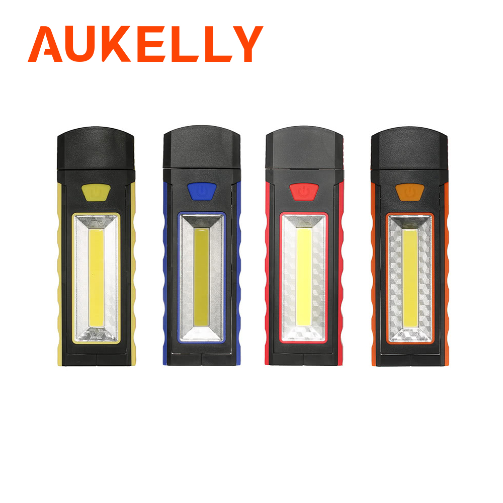 Aukelly COB LED Work Light Inspection Flashlight Powerful Hand Torch Magnetic Stand Hanging Hook Portable Camping Tent Lantern