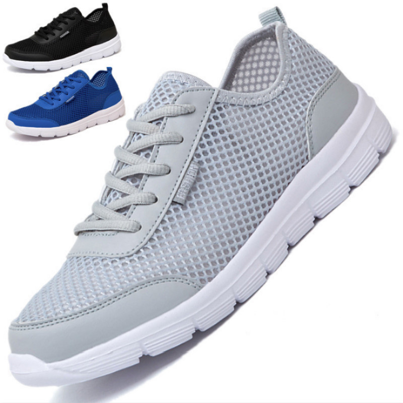 Unisex Mesh Outdoor Sports Shoes Men Sneakers Running Shoes Men Women Light Weight Walking Breathable Casual Comfrotable Shoes