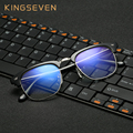 Óculos para O Computador KINGSEVEN Armação de óculos para Homens Mulheres Oculos de grau Óculos Azul Antireflective Revestimento Anti UV