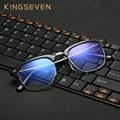 KINGSEVEN Gafas para El Ordenador Montura de gafas para Hombres Mujeres Oculos de Grau Anteojos Azul Recubrimiento Antirreflectante Anti UV