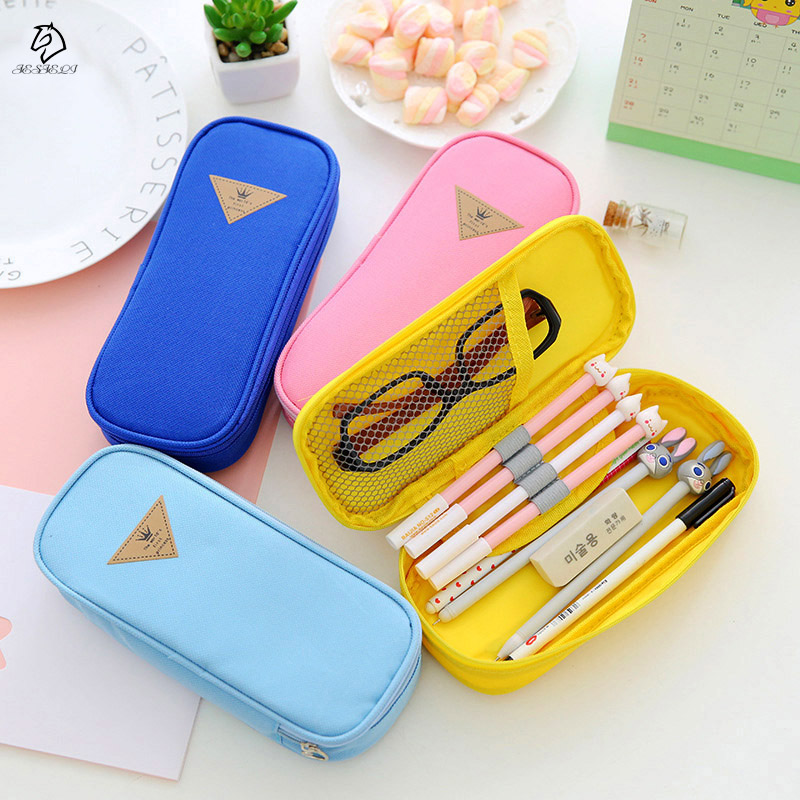 New Arrival Pop Pen Bag Case Holder Storage Pencil case School Supplies Cosmetic Makeup Bag big capacity high quality canvas shark double layers pen pencil holder makeup case bag for school student with combination coded lock