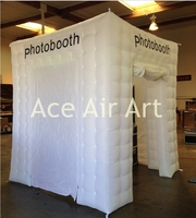 no light coolest cube inflatable photo booth kiosk for event supplies